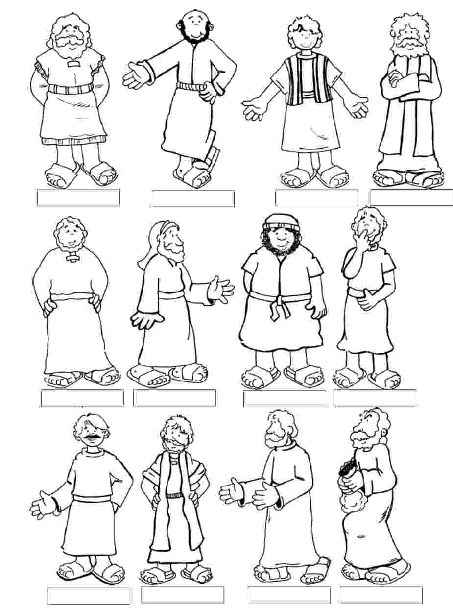 jesus and disciples coloring page twelve disciples coloring page coloring home coloring jesus and page disciples