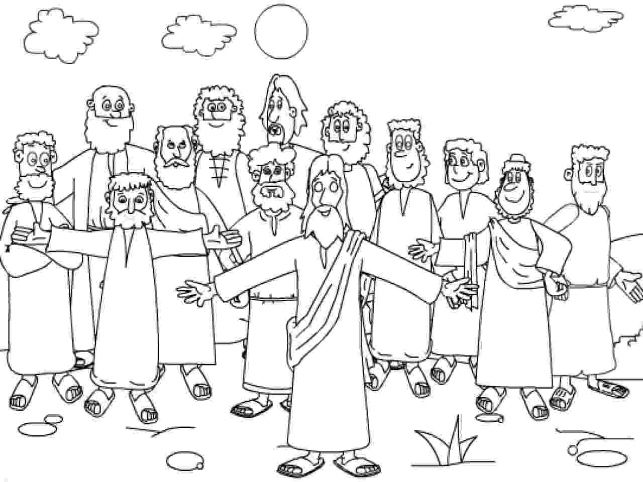 jesus and disciples coloring page twelve disciples coloring page coloring home disciples coloring page and jesus