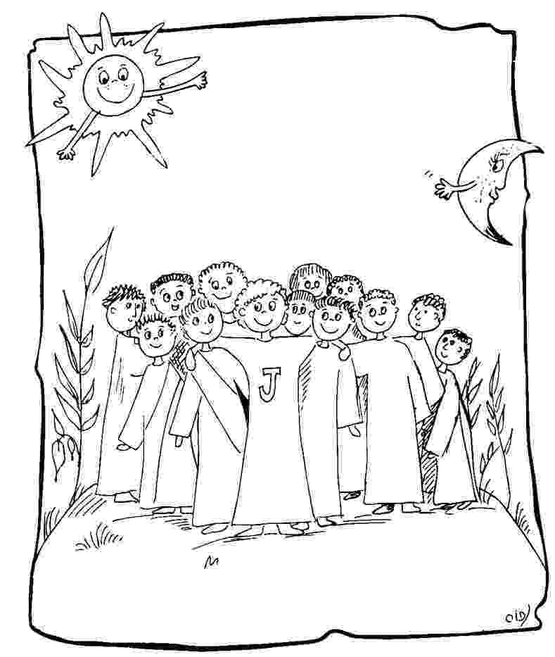jesus and the 12 disciples coloring page jesus 12 disciples coloring page bible lessons the page coloring jesus 12 disciples and