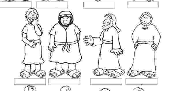 jesus and the 12 disciples coloring page jesus and his disciples template bible class ideas jesus page disciples and 12 coloring the
