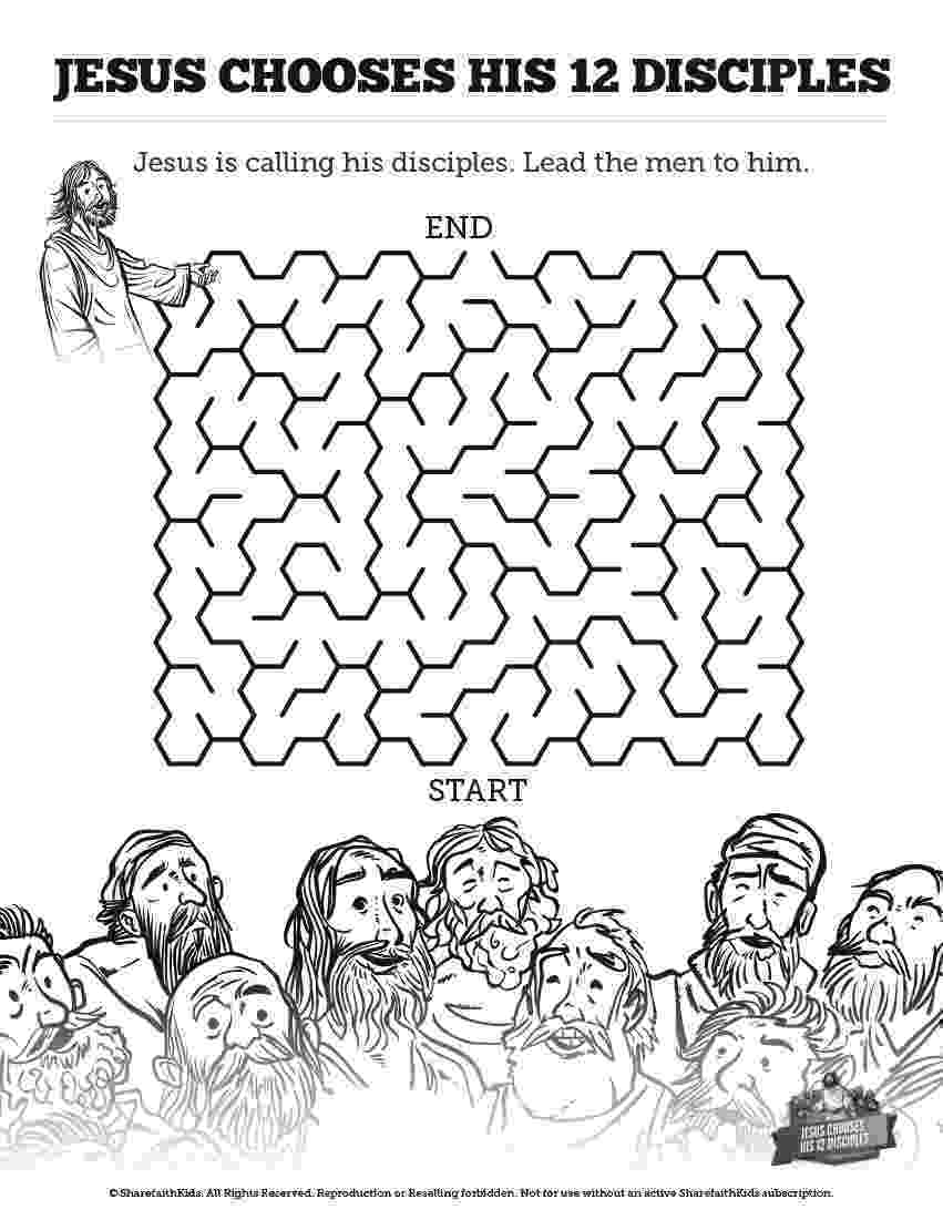 jesus and the 12 disciples coloring page jesus disciples the coloring page jesus 12 and