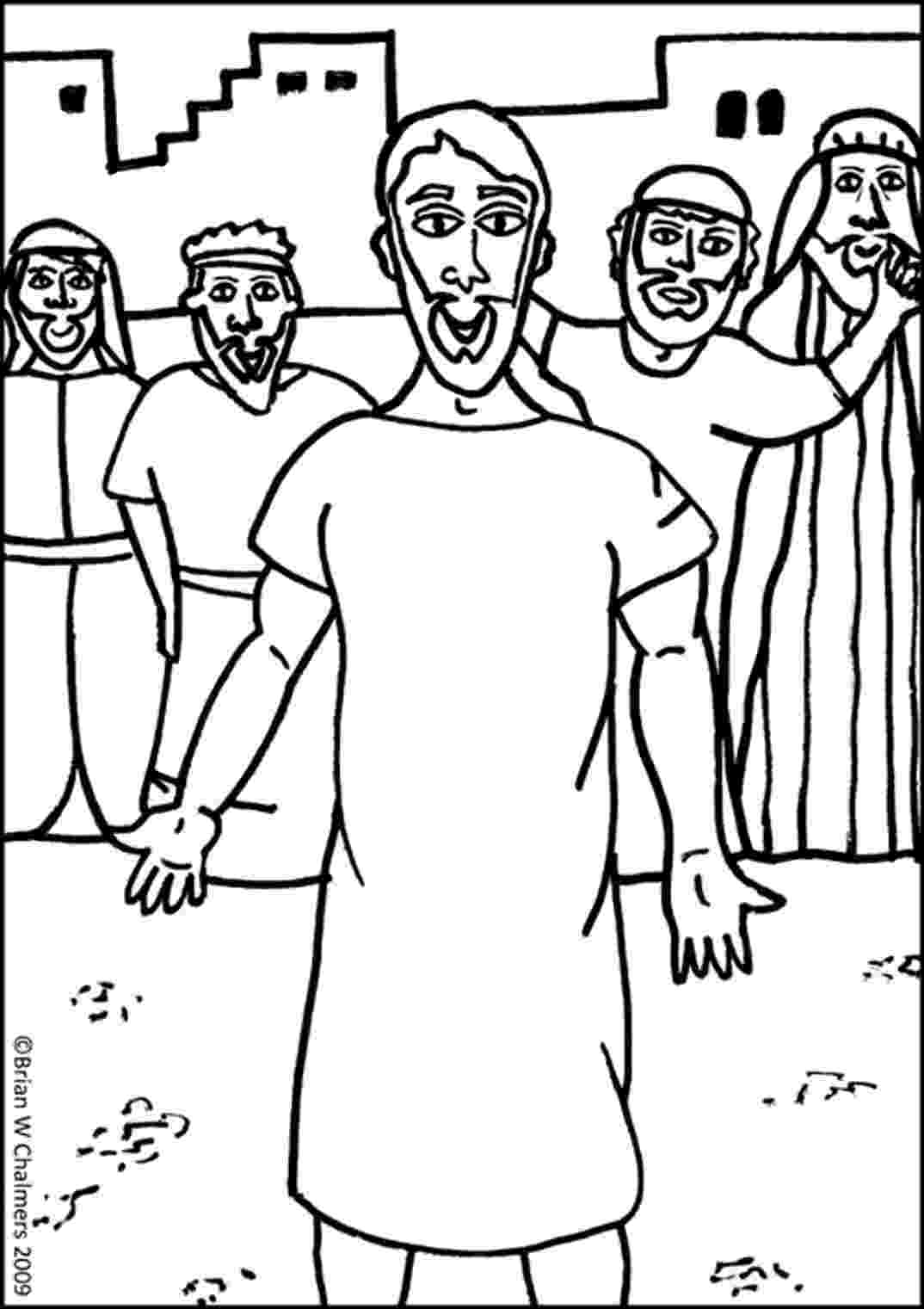 jesus heals paralyzed man coloring page coloring page of jesus39 healing of the paralytic on a mat paralyzed jesus page man coloring heals