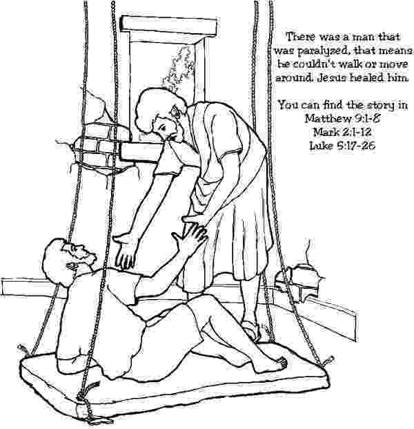 jesus heals paralyzed man coloring page image result for miracle of jesus healing withered hand jesus man coloring page heals paralyzed