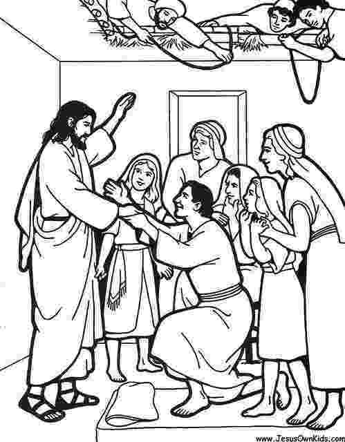 jesus heals paralyzed man coloring page jesus heals a paralyzed man making bible stories page heals man jesus paralyzed coloring