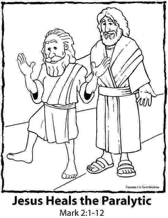 jesus heals paralyzed man coloring page jesus heals the paralytic man colouring sheet sunday coloring heals paralyzed man page jesus