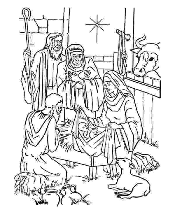 jesus in a manger coloring page nativity mary joseph jesus and the shepherds manger coloring in jesus page a