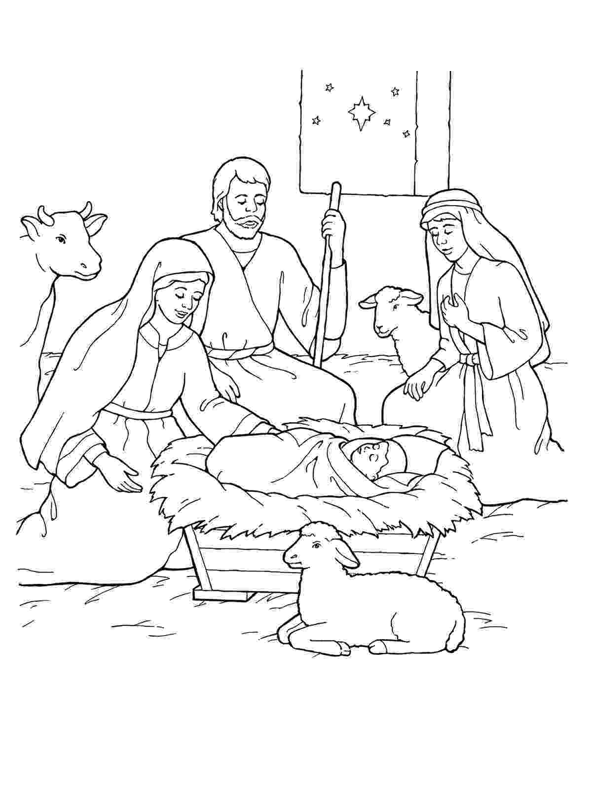 jesus in a manger coloring page nativity scene coloring pages jesus is here ministry to manger coloring jesus page a in