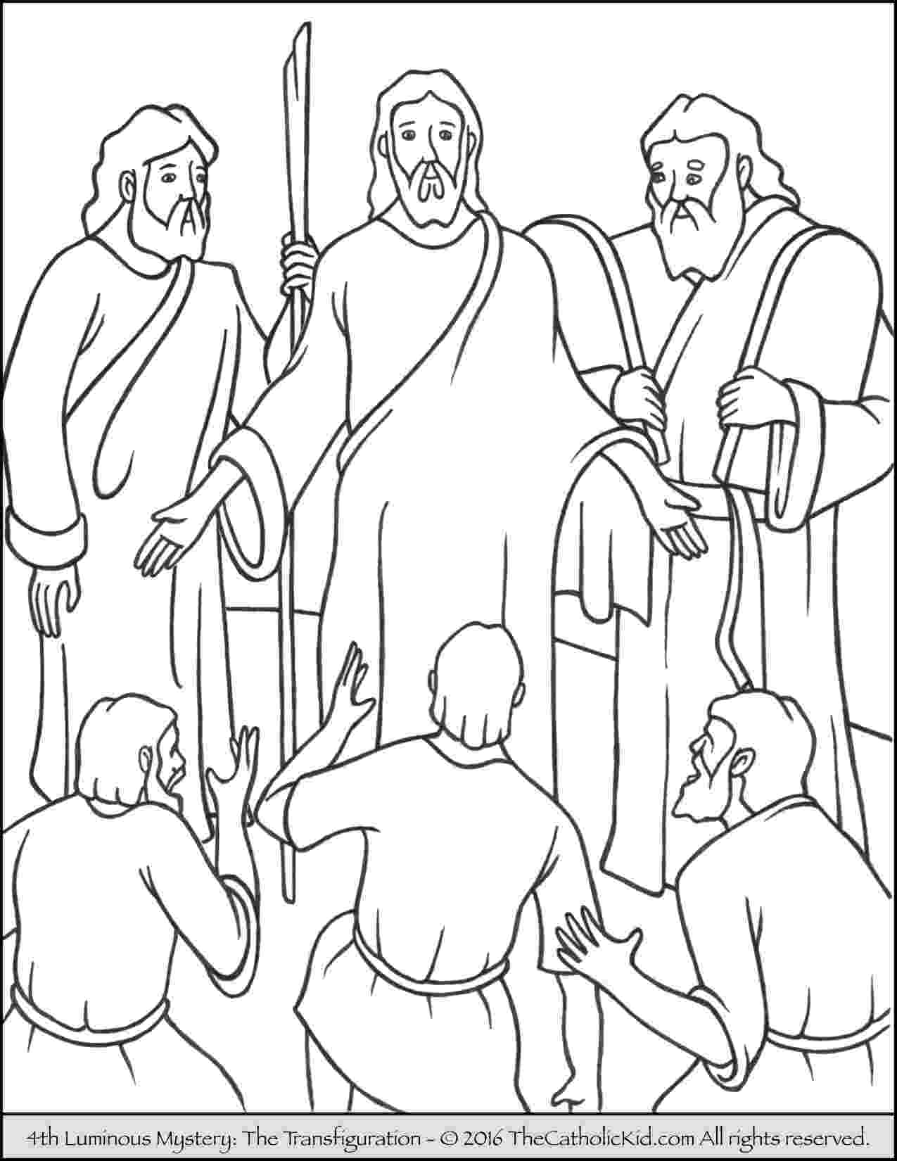 jesus transfiguration coloring page 17 best images about transfiguration on pinterest page coloring transfiguration jesus