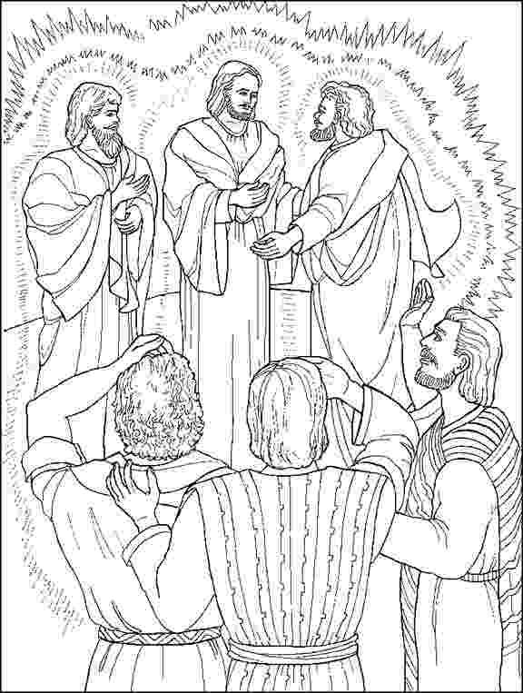 jesus transfiguration coloring page jesus is transfigured coloring page bible coloring coloring transfiguration jesus page