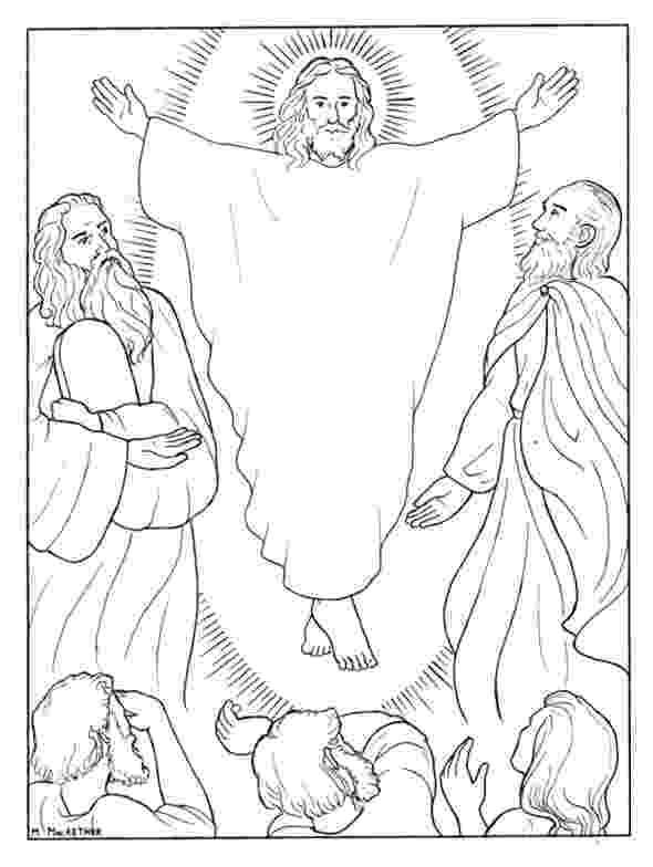 jesus transfiguration coloring page transfiguration of jesus coloring pages transfiguration transfiguration page coloring jesus