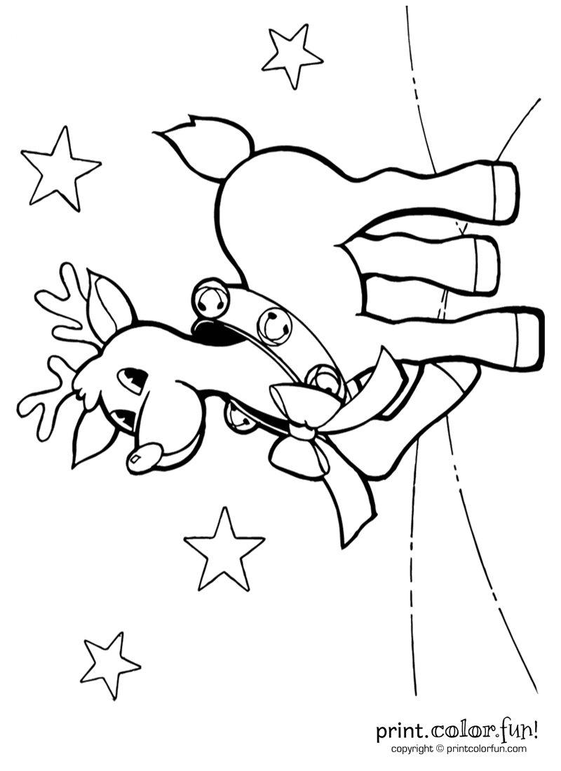 jingle bells coloring pages cute reindeer with jingle bells coloring page print pages coloring bells jingle