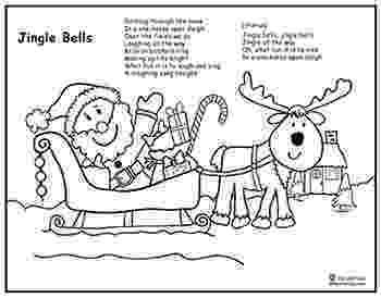 jingle bells coloring pages jingle bells song santa sleigh coloring page lyrics coloring bells pages jingle
