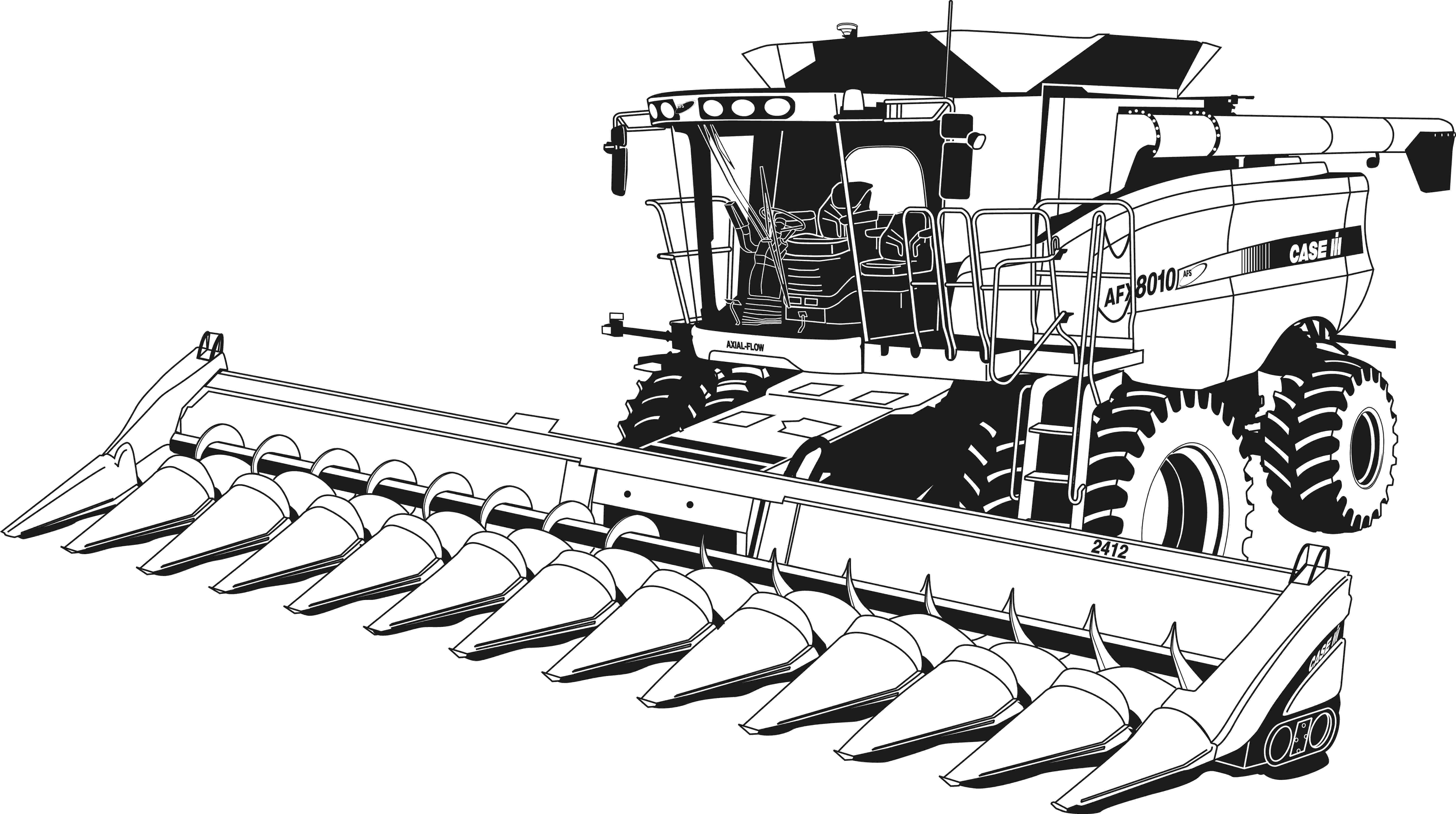 john deere combine coloring pages combine clipart black and white clipground coloring combine john pages deere