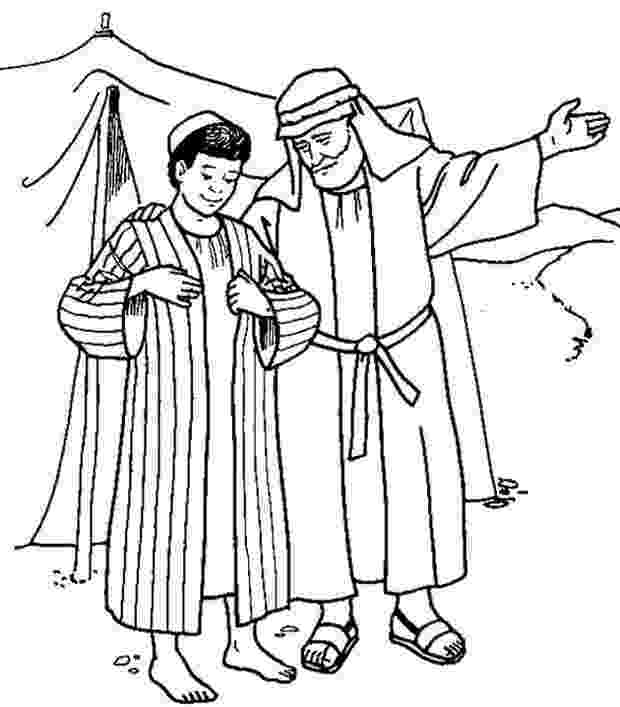 joseph and the amazing technicolor dreamcoat coloring pages joseph receives the coat of many colours from his father dreamcoat amazing technicolor joseph and pages coloring the