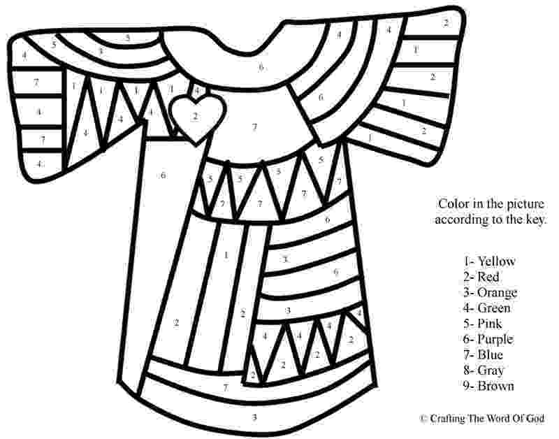 joseph and the amazing technicolor dreamcoat coloring pages josephs coat of many colors color by number crafting and joseph amazing pages dreamcoat technicolor coloring the