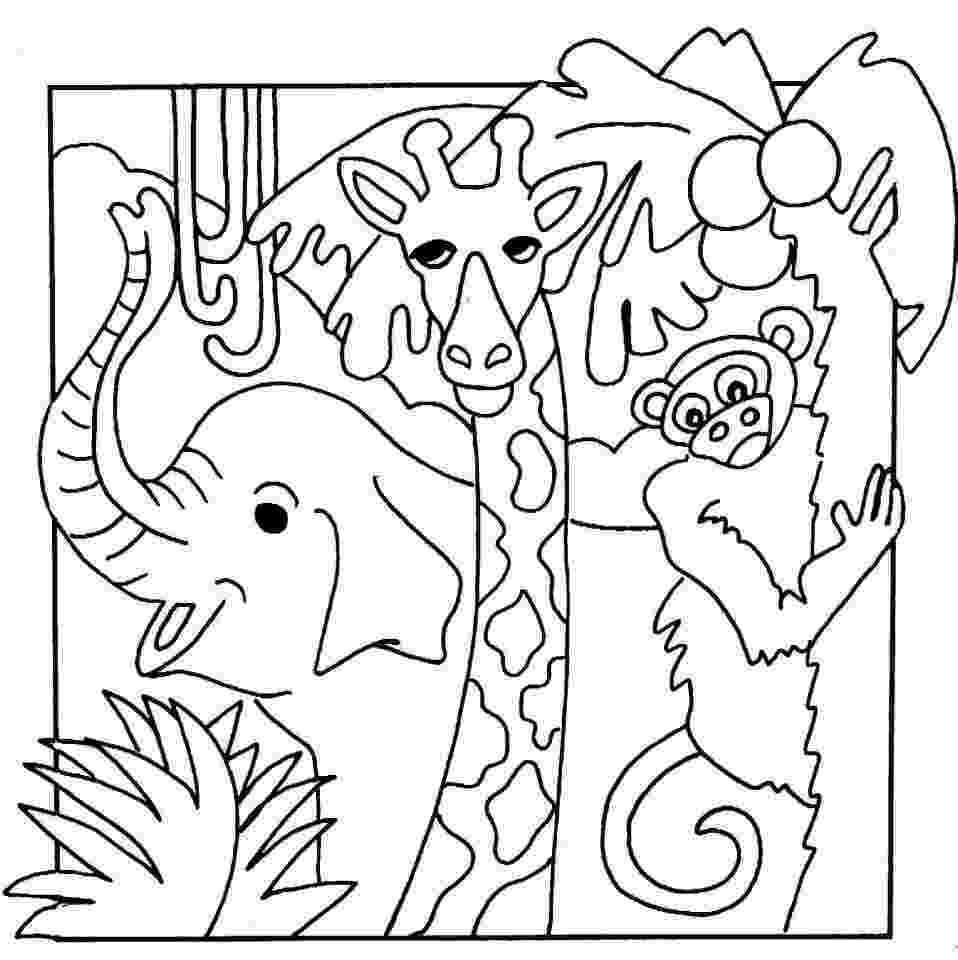 jungle animals coloring pages for toddlers jungle safari coloring pages images of animal coloring coloring for toddlers jungle animals pages