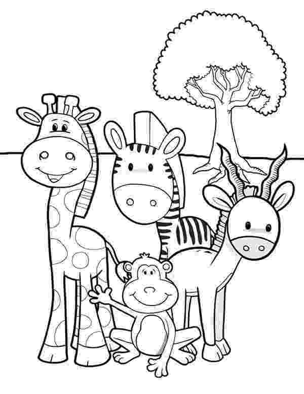 jungle animals coloring pages for toddlers safari or african savanna animals free printable toddlers jungle coloring animals for pages