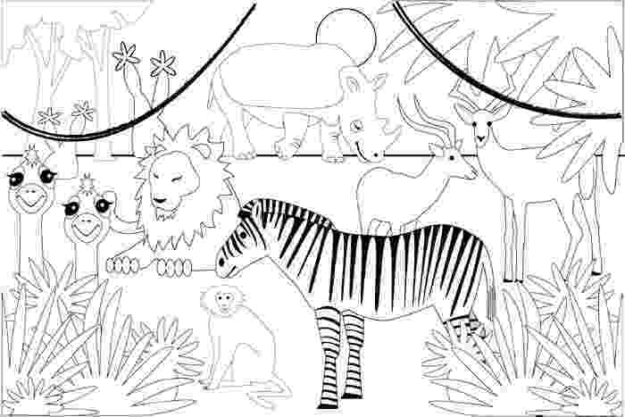 jungle animals coloring pages for toddlers sonquest rainforest coloring mural by gospel light for coloring jungle pages animals toddlers