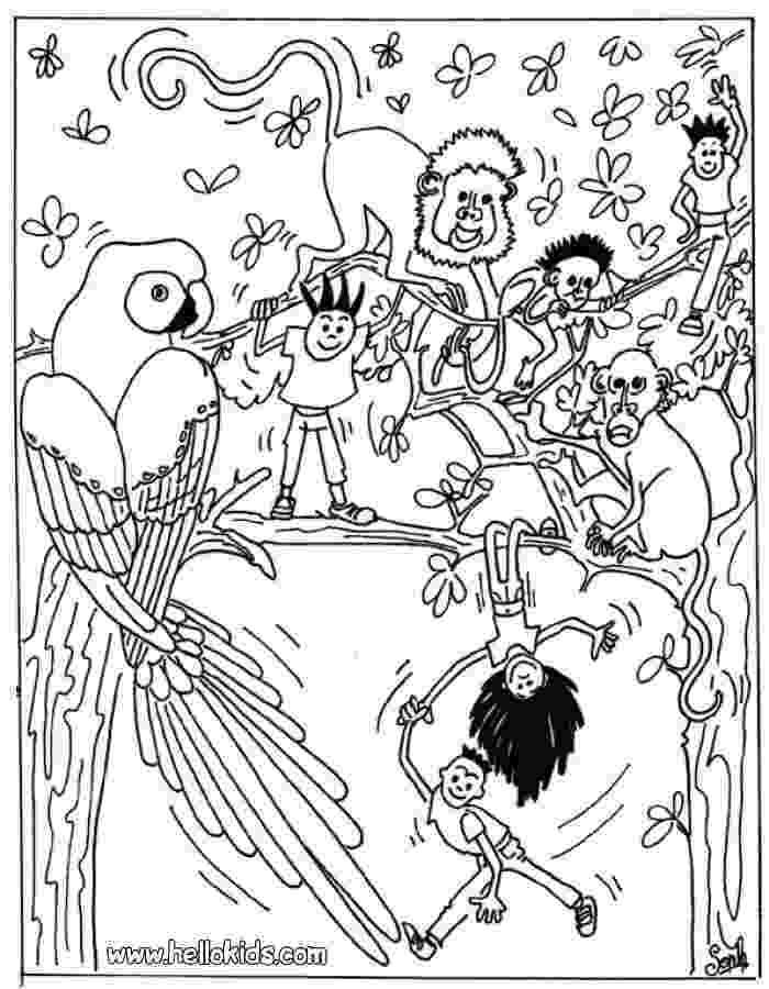 jungle animals coloring pages jungle animal coloring pages to download and print for free jungle coloring animals pages