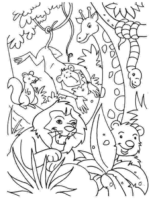 jungle animals coloring pages jungle coloring pages best coloring pages for kids coloring jungle animals pages 1 1