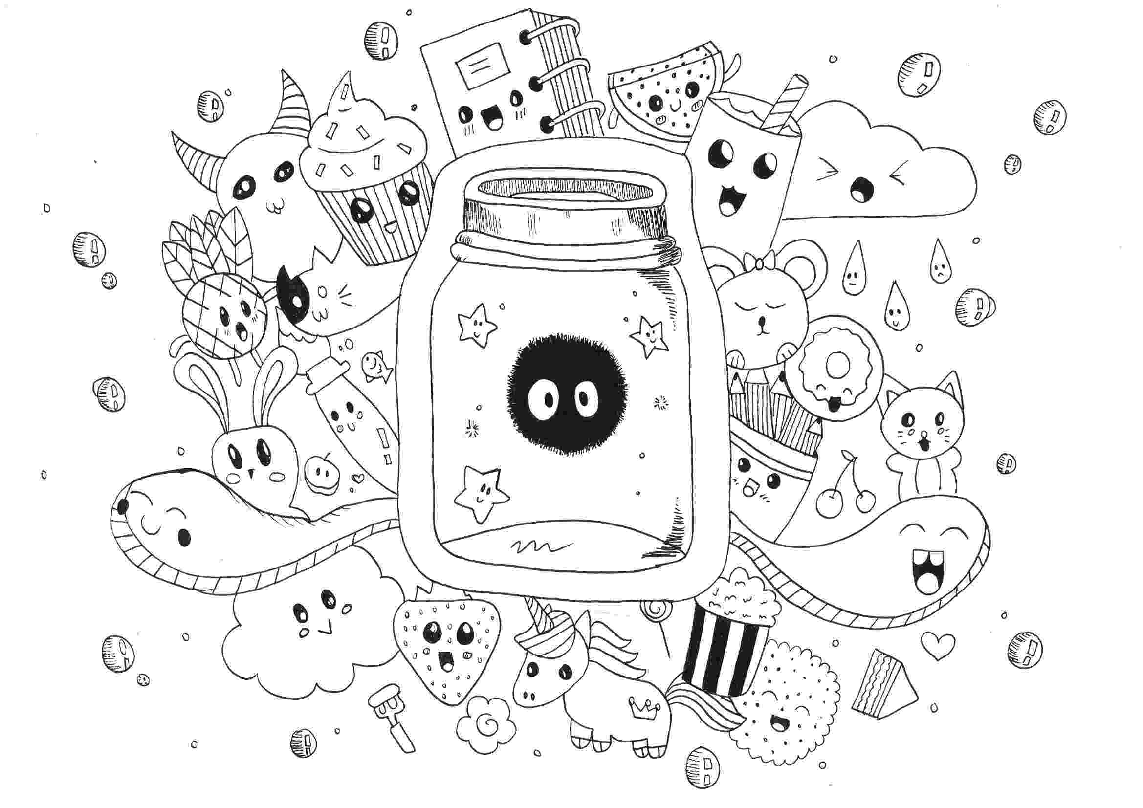 kawaii colouring pages kawaii food doodle free printable coloring page colouring kawaii pages