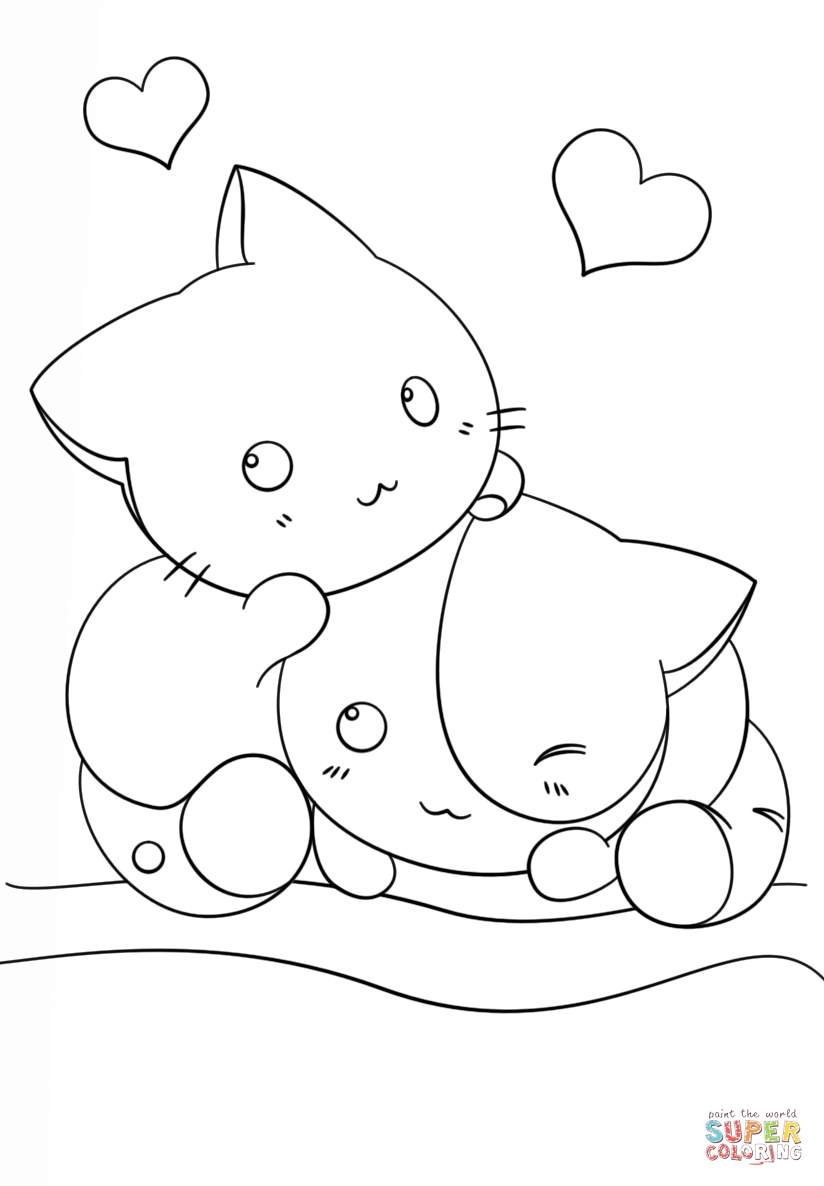 kawaii colouring pages monsters doodle coloring page printable cutekawaii coloring kawaii pages colouring