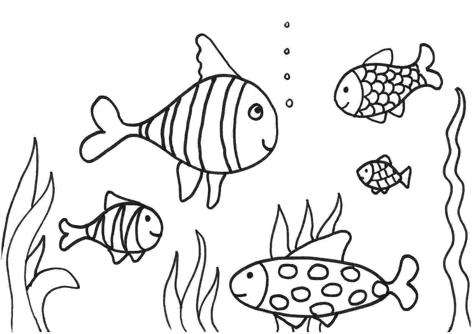 kids pictures of fish fish coloring pages for kids preschool and kindergarten of kids fish pictures
