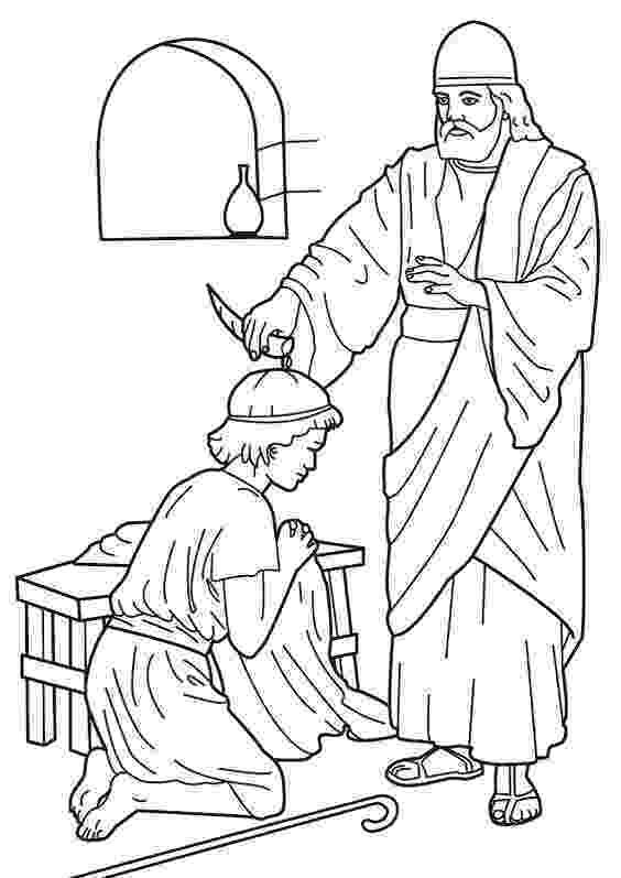 king david pictures color samuel anointing david king bible coloring pages biblia color david pictures king