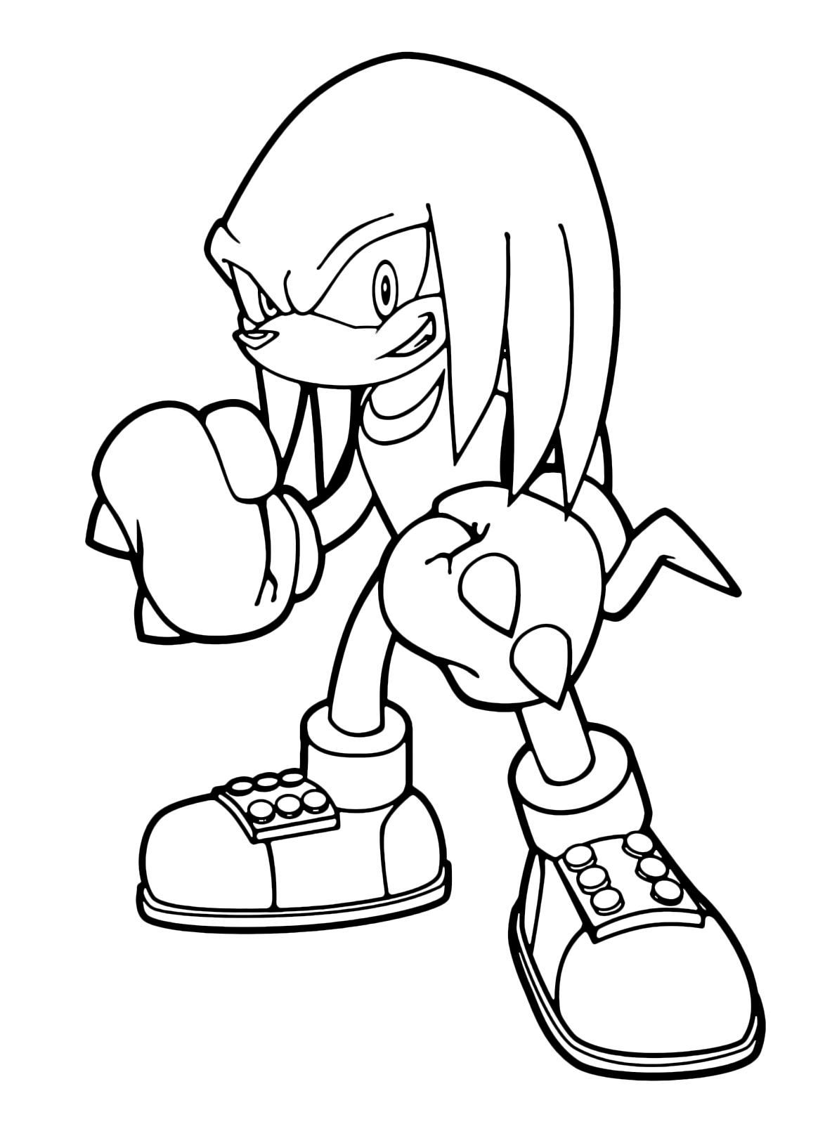 knuckles coloring pages sonic boom knuckles the echidna with his thorny fists coloring knuckles pages