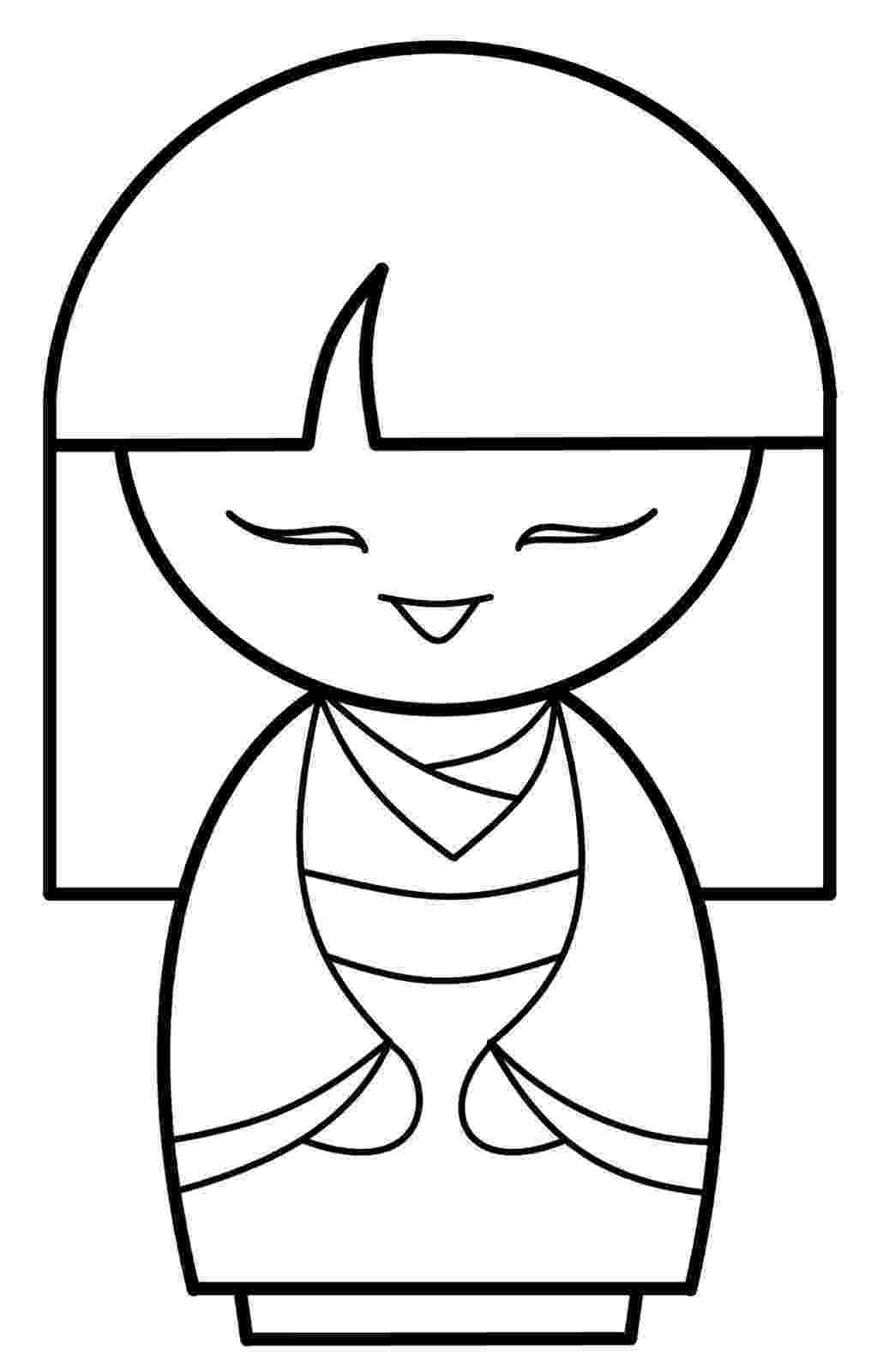 kokeshi dolls coloring pages free printable kokeshi doll coloring page paper and the pages kokeshi dolls coloring