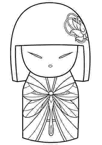 kokeshi dolls coloring pages kokeshi colouring page by maxine appliqué pinterest pages kokeshi coloring dolls