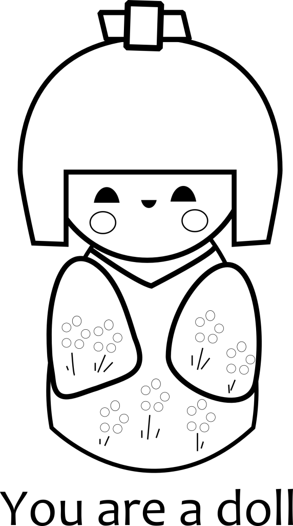 kokeshi dolls coloring pages kokeshi doll coloring page kokeshi dolls asian quilts coloring kokeshi pages dolls