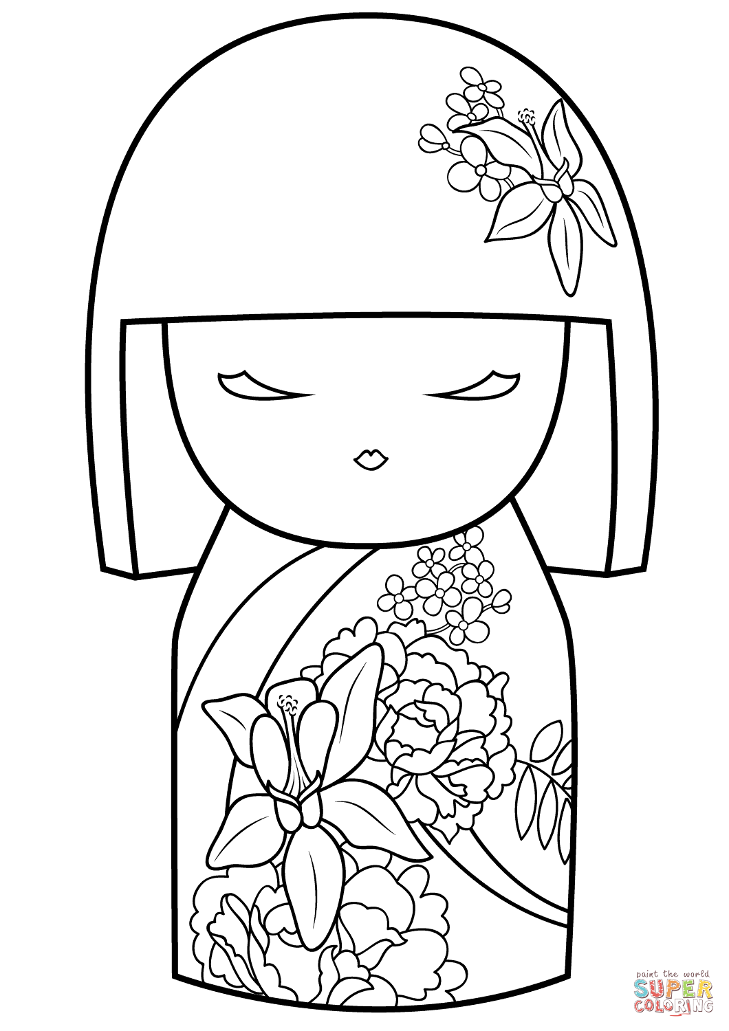 kokeshi dolls coloring pages kokeshi dolls coloring page free printable coloring pages coloring pages kokeshi dolls