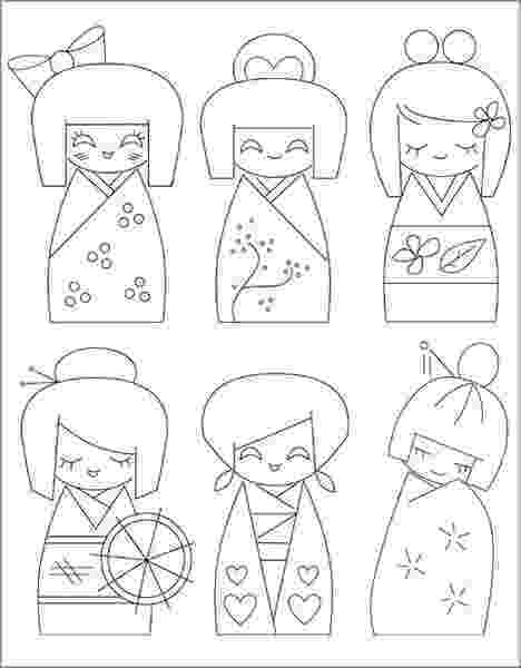 kokeshi dolls coloring pages kokeshi dolls coloring pages at getcoloringscom free pages coloring dolls kokeshi