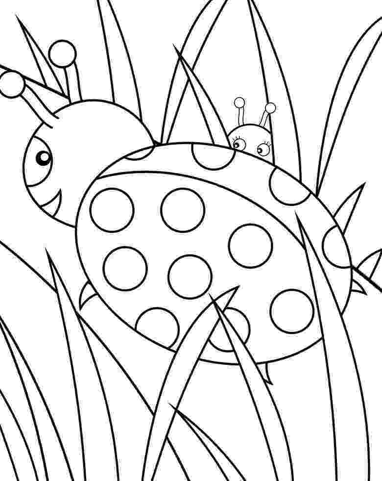 ladybird colouring page ladybug coloring pages getcoloringpagescom colouring ladybird page