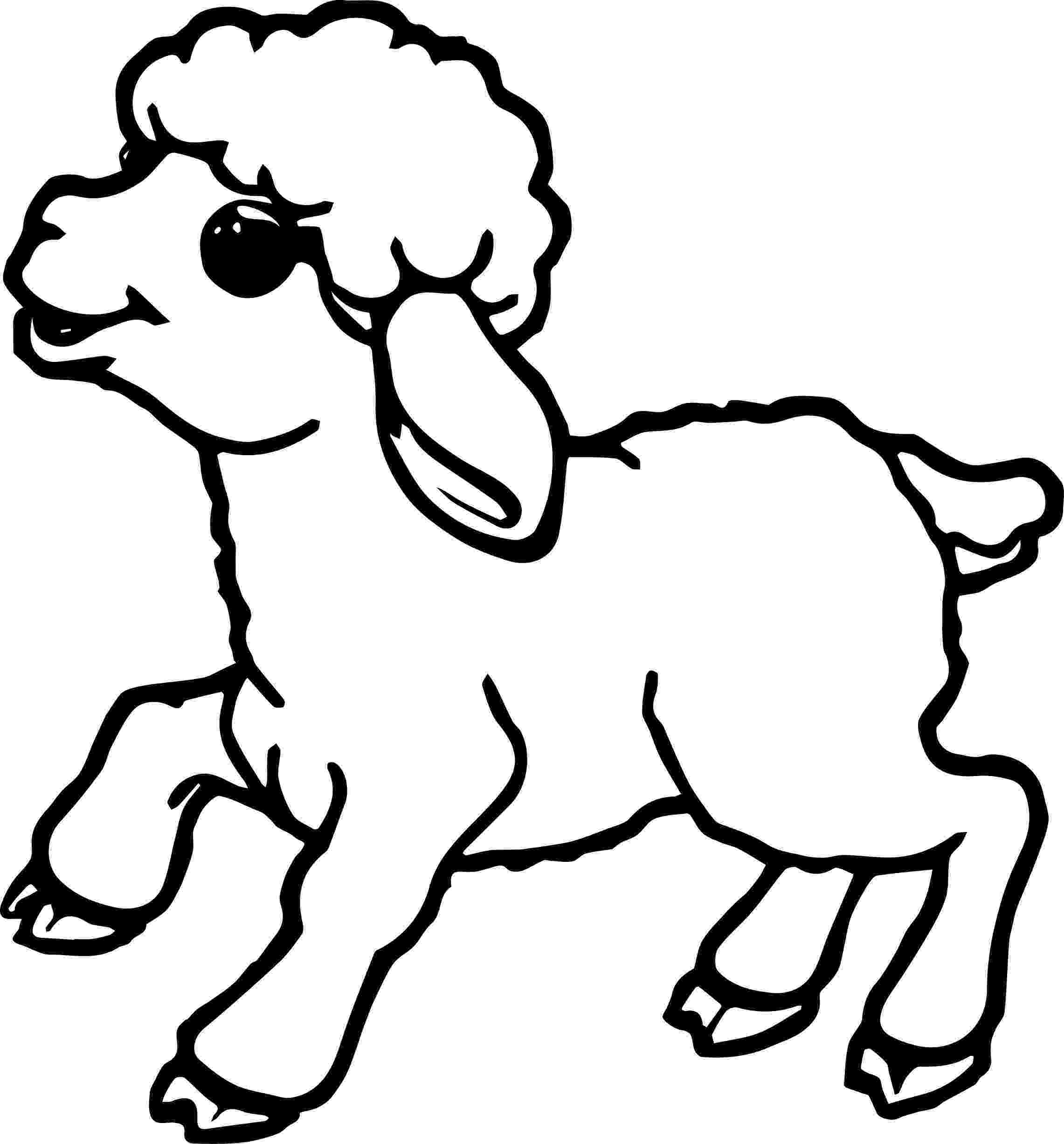 lamb color free printable sheep coloring pages for kids color lamb 1 1