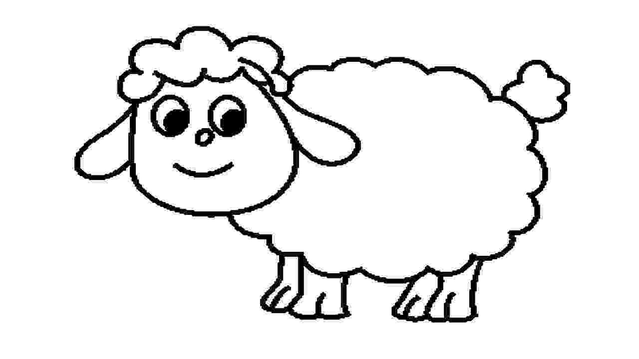 lamb color lamb coloring pages getcoloringpagescom color lamb 1 1