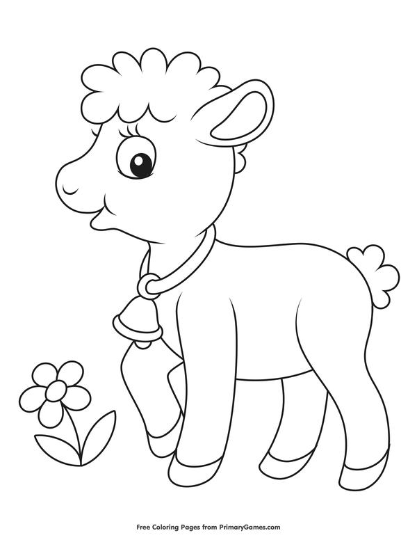 lamb color sheep coloring pages to print year of sheep 2015 color lamb