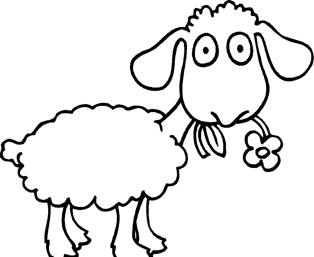 lamb color sheep outline coloring page coloring home color lamb
