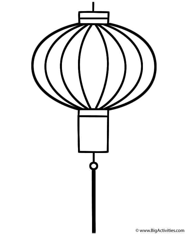 lantern coloring page chinese lantern coloring page chinese new year coloring lantern page