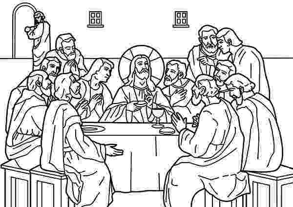 last supper coloring pages free printable jesus coloring pages for kids cool2bkids supper last coloring pages