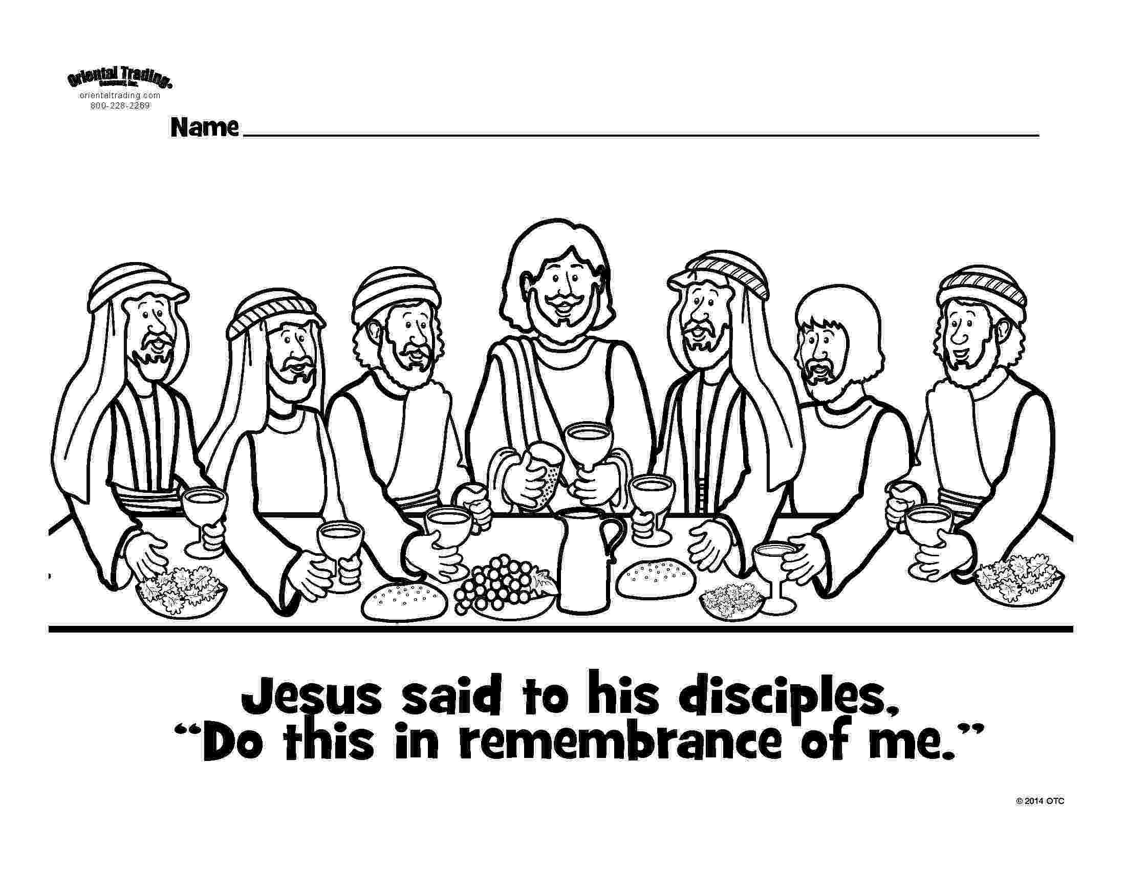 last supper coloring pages last supper colouring page liturgy bag ideas easter supper pages coloring last