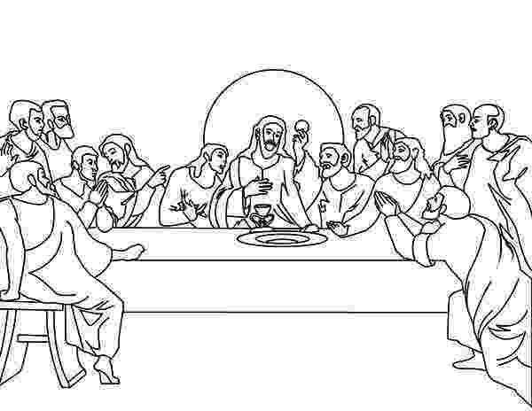 last supper coloring pages last supper drawing at getdrawingscom free for personal coloring last supper pages