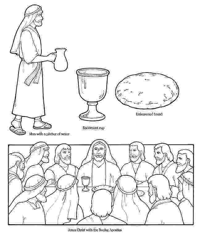 last supper coloring pages last supper the gospels bible teaching pinterest last supper coloring pages