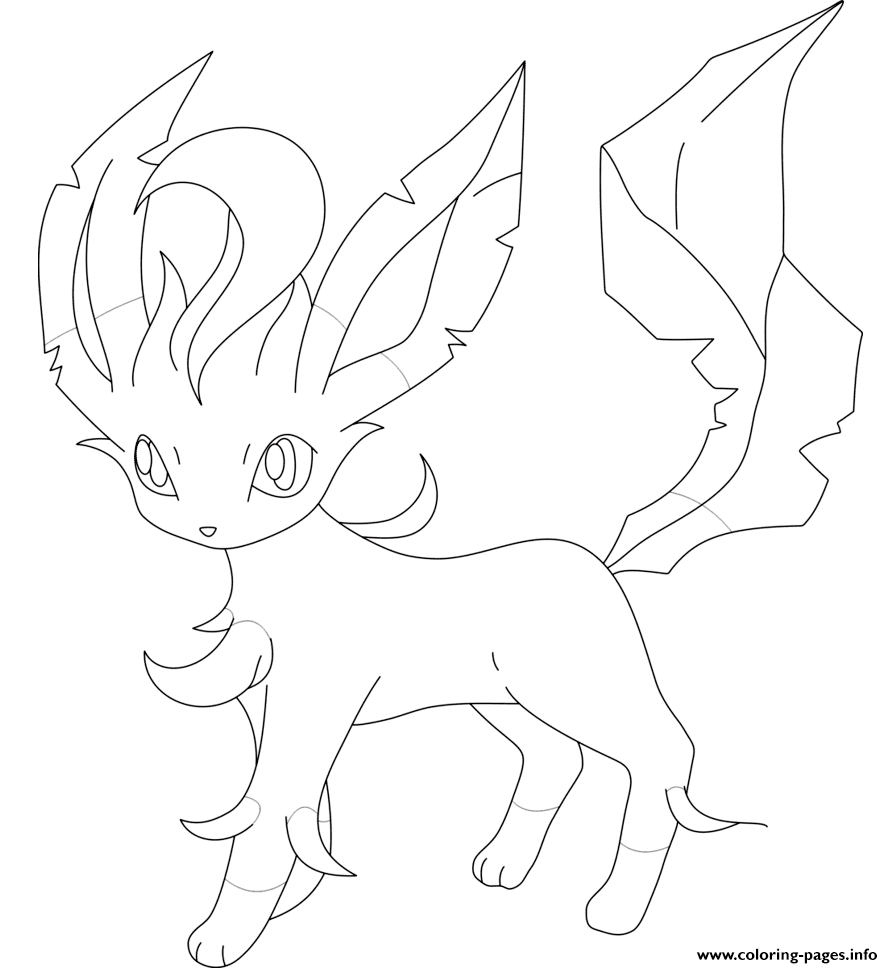 leafeon coloring pages leafeon coloring pages hellokidscom pages coloring leafeon