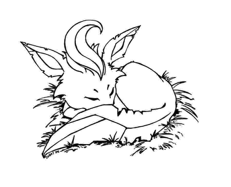 leafeon coloring pages leafeon lineart by leptocyon on deviantart coloring pages leafeon