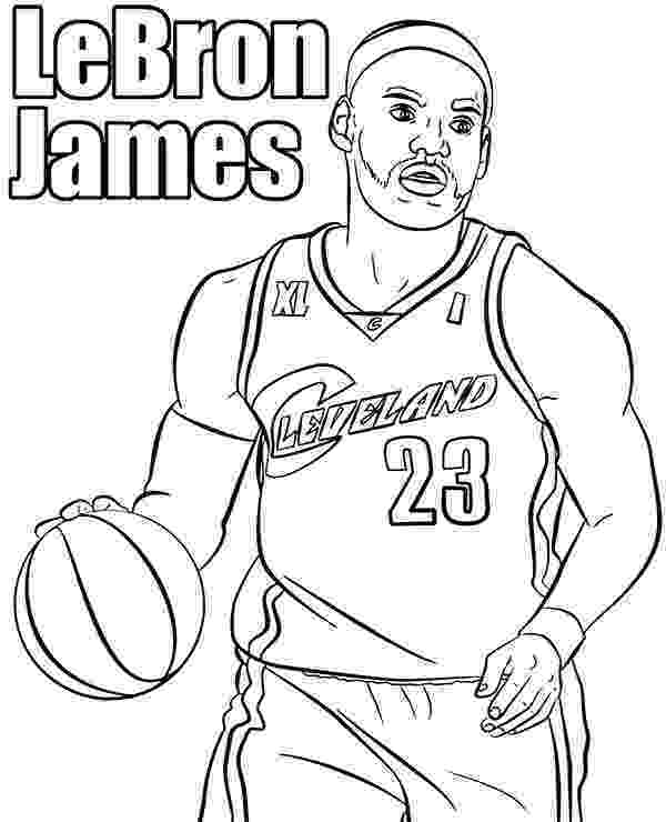 lebron james coloring pages basketball players coloring page le bron james printable james pages coloring lebron