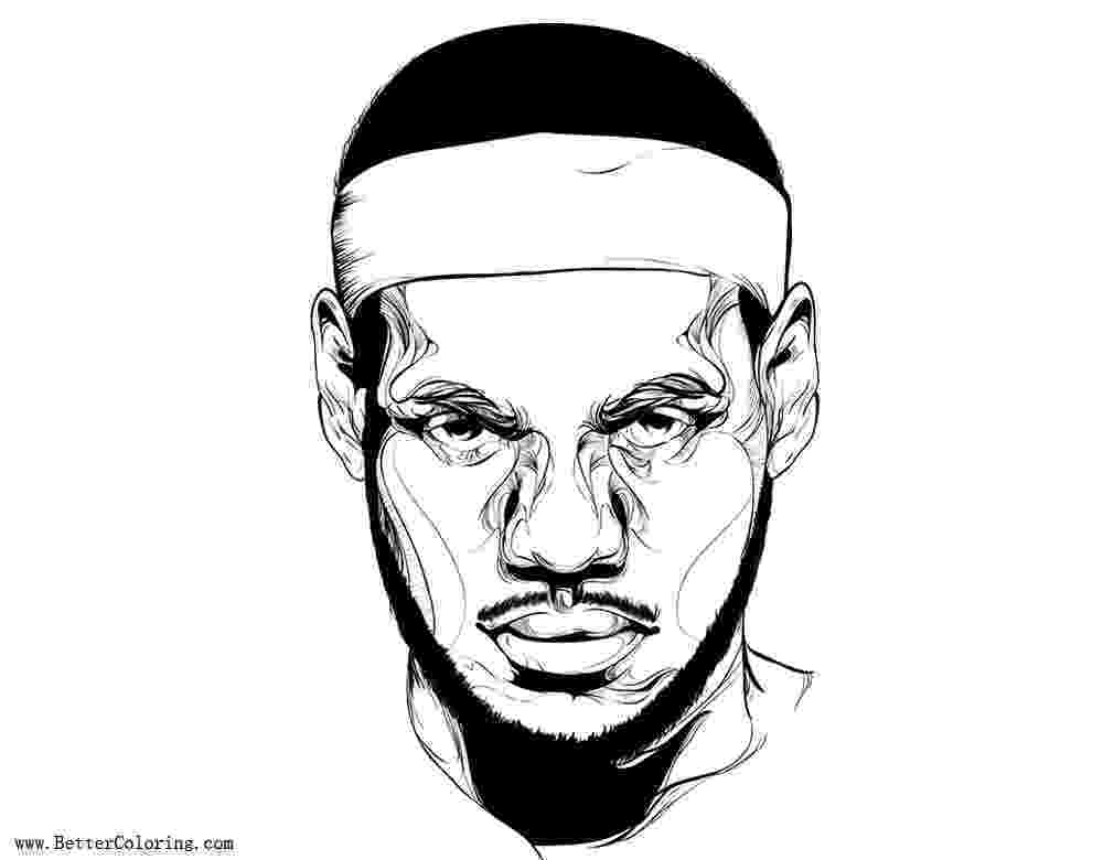 lebron james coloring pages lebron 11 drawing at getdrawingscom free for personal lebron james pages coloring