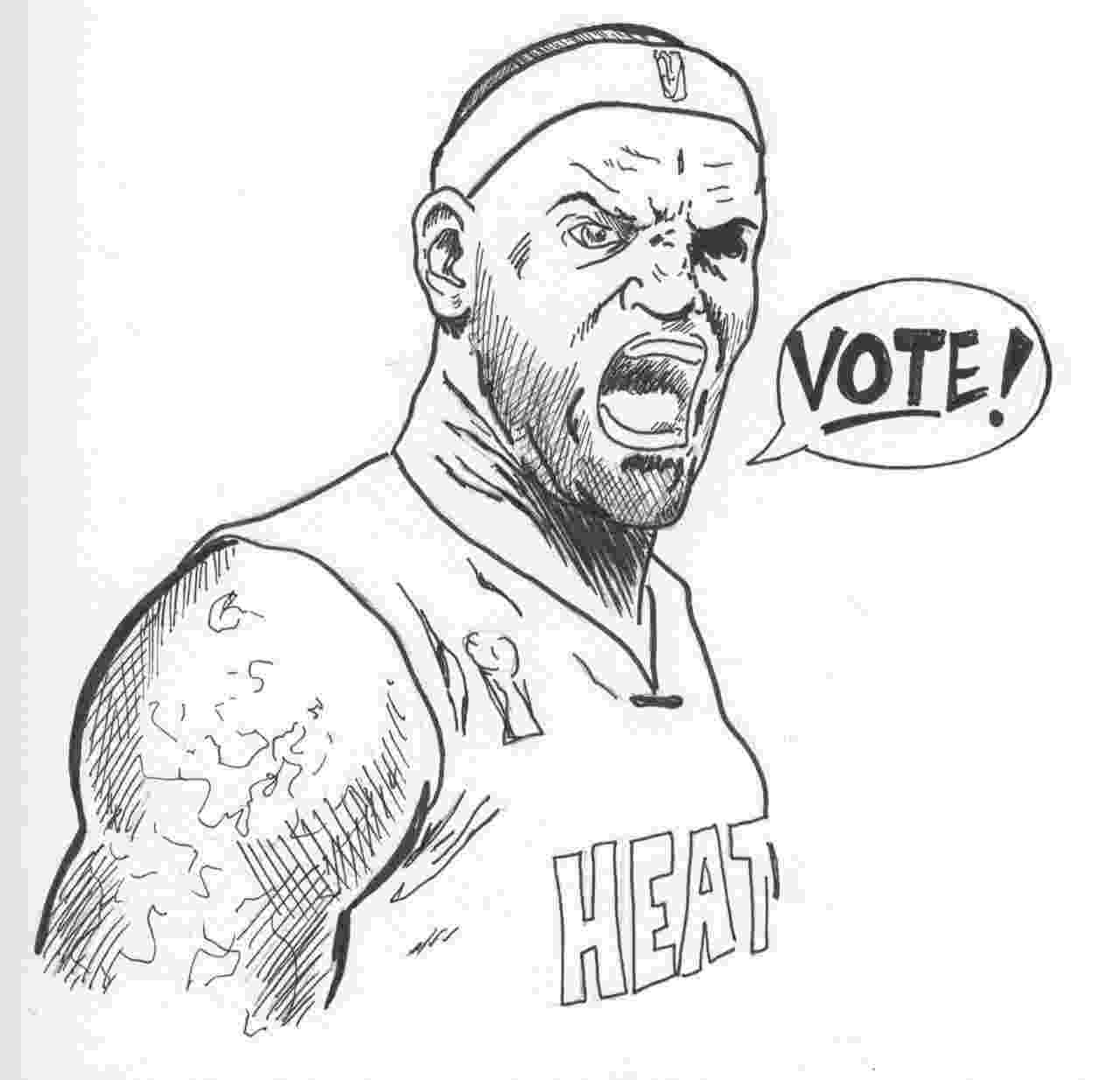 lebron james coloring pages lebron james dunk drawing at getdrawingscom free for james pages coloring lebron