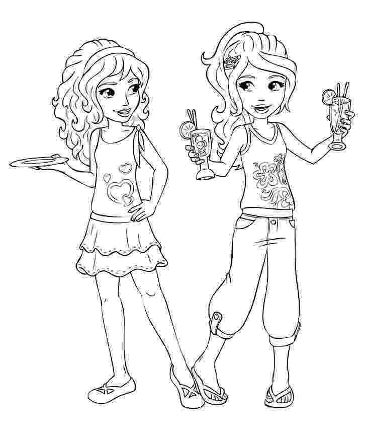 lego friends colouring pictures lego friends coloring pages to download and print for free colouring friends lego pictures